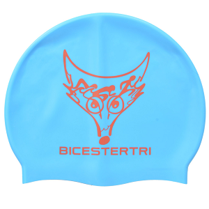 High quality silicone swimming cap,blue
