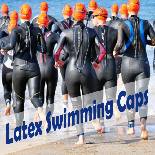 latex swimming caps